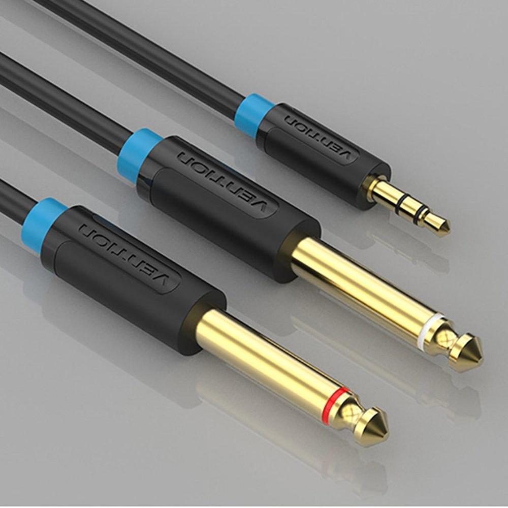 Vention 3,5 Mm Jack Plug Untuk Melipatgandakan 6.5Mm Jack Adaptor .