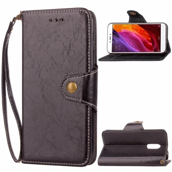 Vintage Leather Business Card Holder Hidden Wallet Flip Cover Casefor Xiaomi Redmi Note 4X 4GB RAM/64GB ROM - intl