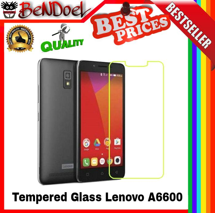 Vn Tempered Glass 9H for Lenovo A6600 / A6600+ Plus 2D Round CurvedEdge .