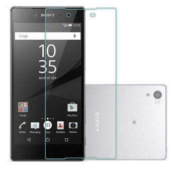 Vn Tempered Glass 9H for Sony Experia Xperia Z3+ Plus / E6553 / Docomo / LTE 4G / Dual 2D Round Curved Edge Screen Protector Film 0.33mm - Bening