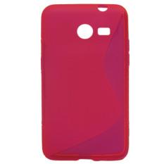 Vococal S Line Fleksibel Pelindung TPU Case untuk Samsung Galaxy Core II 2 G3556D (berwarna Merah Muda)