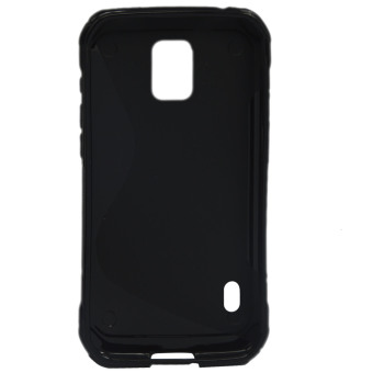 Detail Gambar Vococal TPU pelindung kasus sampul untuk Samsung Galaxy S5 Active G870 (Hitam)