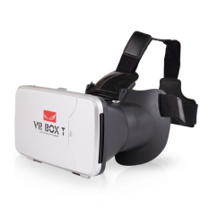 VR Box 3D T with Capacitive Touch Button 3D VR Cardboard 2 - Putih