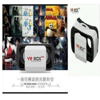 ... VR BOX GENERESI KE 3 3D Virtual Reality for Smartphone UkuranLebih Kecil Putih