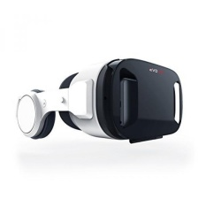 [VR Headset] Merkury Innovations 3D EVO MEGA VR with Headphones Virtual Reality Headset Video Glasses for iPhone, Android, Samsung, LG, HTC, Huawei Smartphones - intl