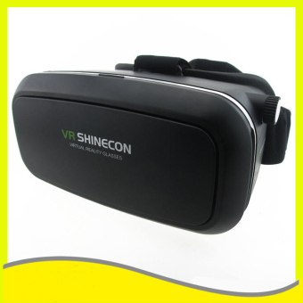 VR SHINECON 3D Virtual Reality Glasses VR Box Headset(Black)