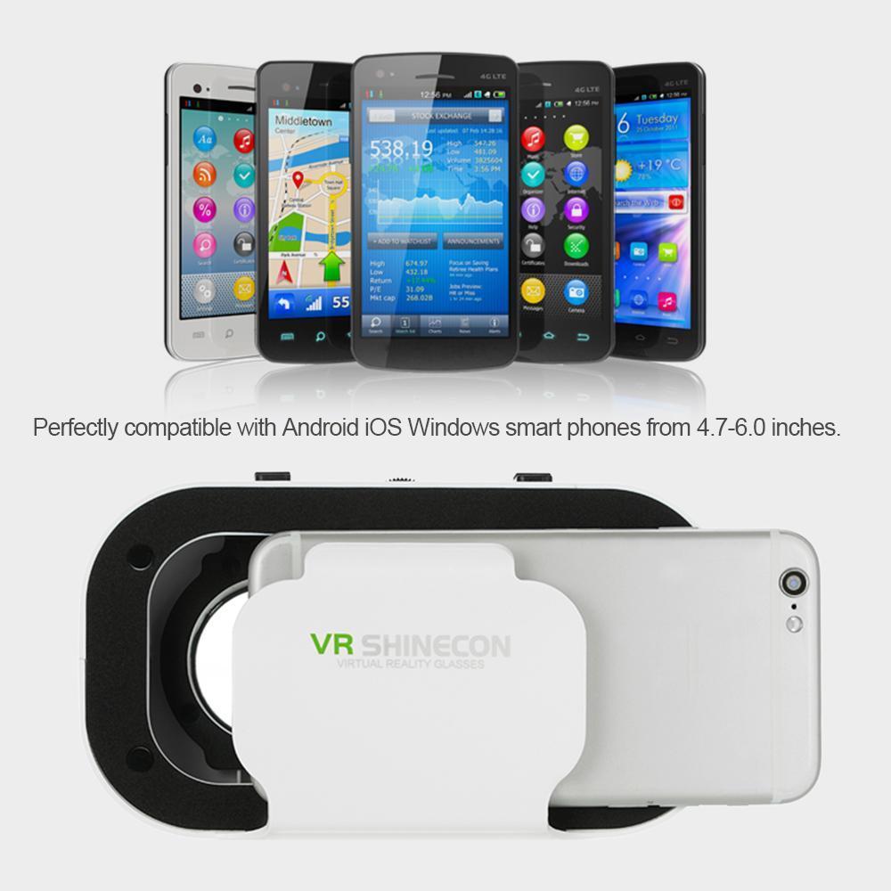 VR SHINECON Virtual Reality Glasses 3D VR Box Glasses Headset - intl .