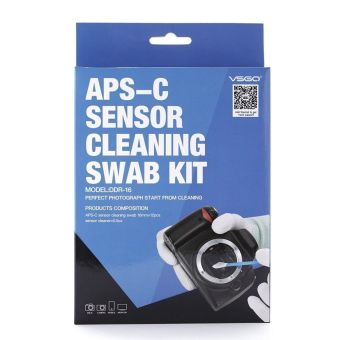VSGO APS-C DSLR Sensor Cleaning Kit mengepel 16 mm x 12 buah untukCanon Nikon Sony kamera