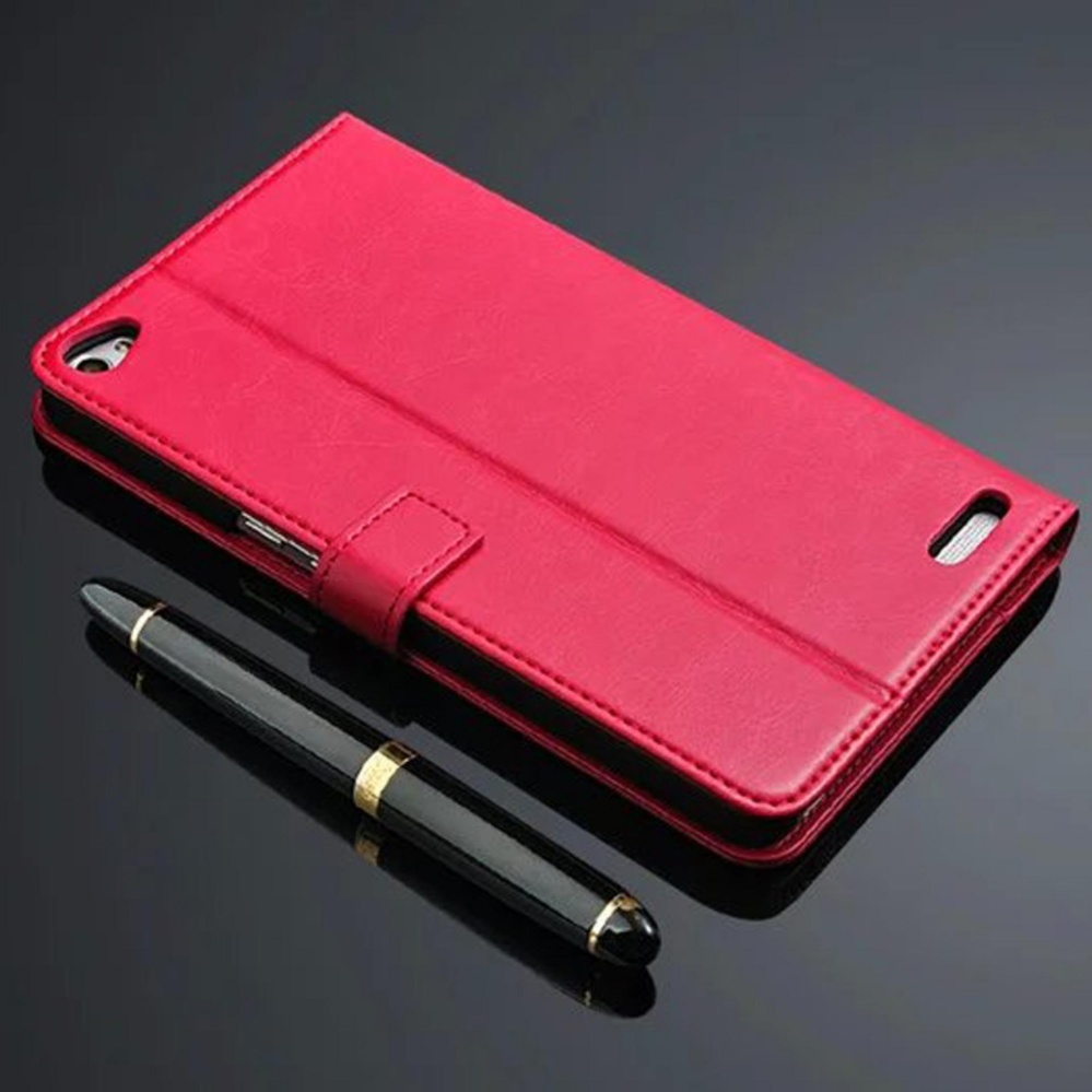 Flash Sale Wallet Flip Genuine Leather Phone Case Cover for Huawei Mediapad X2- intl
