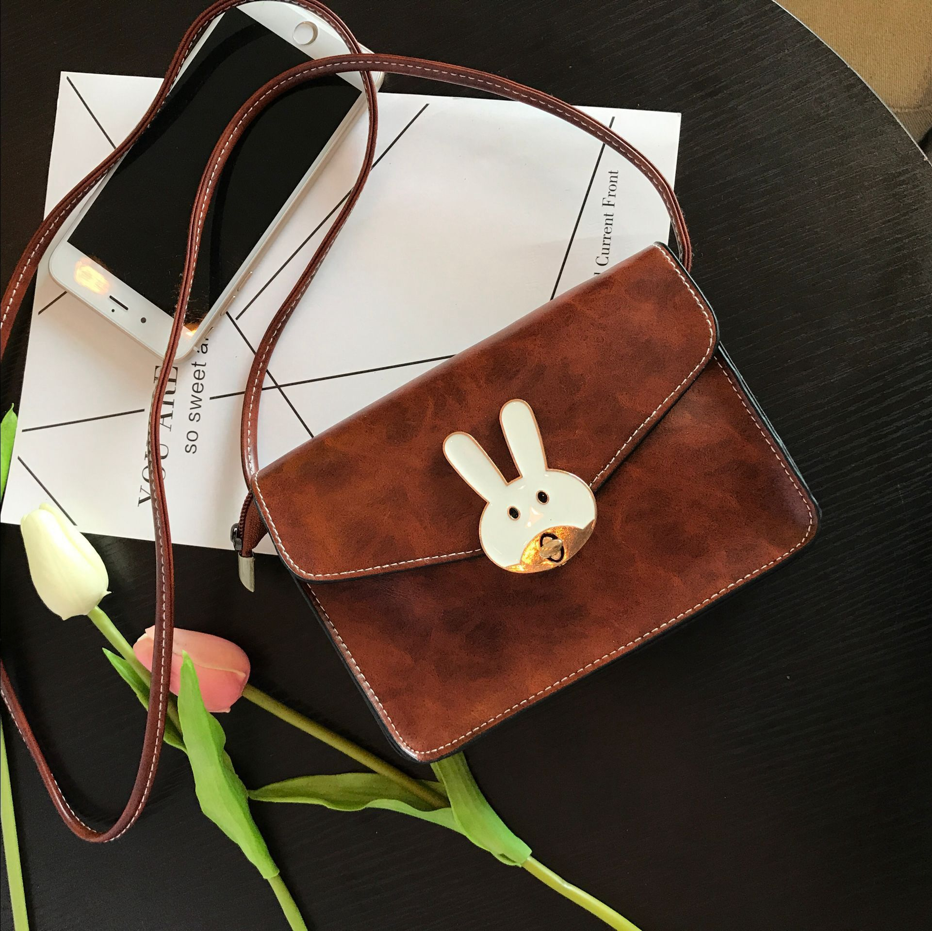 Wanita baru Mini bahu utusan tas Korea Fashion Style paket telepon