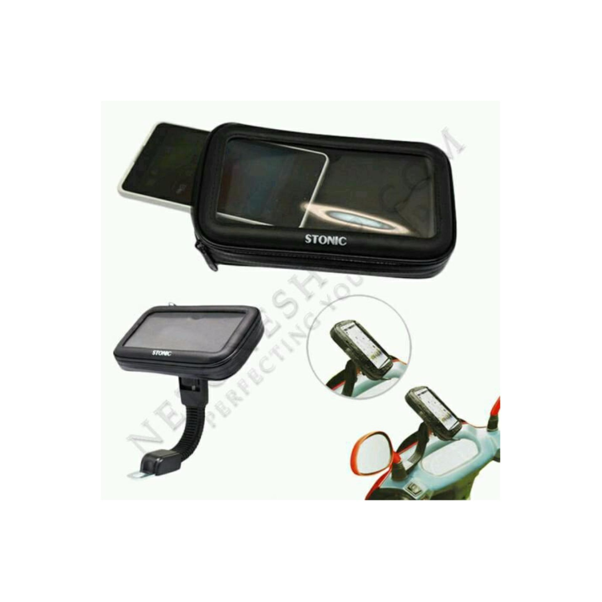 Waterproof Motorcycle Case Stonic. Holder Spion Sepeda MotorWarerproof Bracket HP GPS Anti Air .