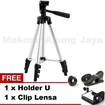 harga Weifeng Tripod Kamera Multiguna WT-3110a . Smartphone, Camera + Free U Holder + Free Fish eyes/Lensa Clip Lazada.co.id