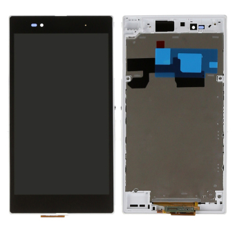 White LCD Display For Sony Xperia Z Ultra XL39h XL39 C6802 C6833Touch screen with digitizer + Bezel Frame + Tools - Intl