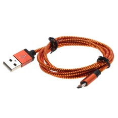 Whyus 1M Copper Wires Micro USB Data Sync Universal Charging CableFor Samsung HTCfor LG (Red)   - intl
