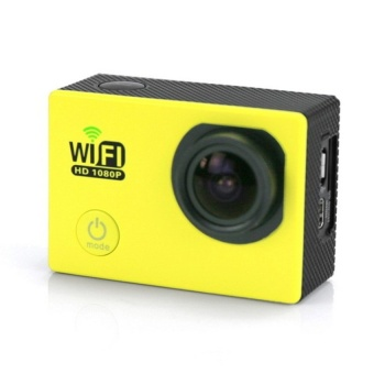 Winliner ACC-B-05 Sports Action Camera DV 170 degree Wide Angle Lens 1080P HD (Yellow) - intl