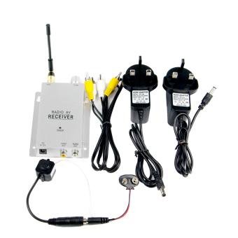Wireless Mini CCTV Hidden Video lubang jarum kamera keamanan denganadaptor