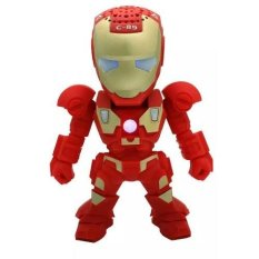 X-One Bluetooth Speaker Portable Iron Man C-89 - Merah