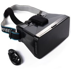 XCSource 3D VR Box Virtual Reality Glasses w/ Bluetooth Game Controller for iPhone - Hitam