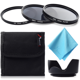 XCSource UV CPL ND4 Filter  Lens Hood 52mm For Nikon D800