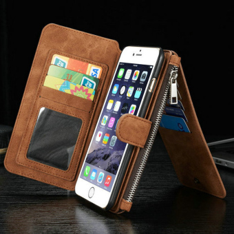 Wallet Flip Style Retro LeatherCard Photo Slot Holder Protective Cover Case for Apple .