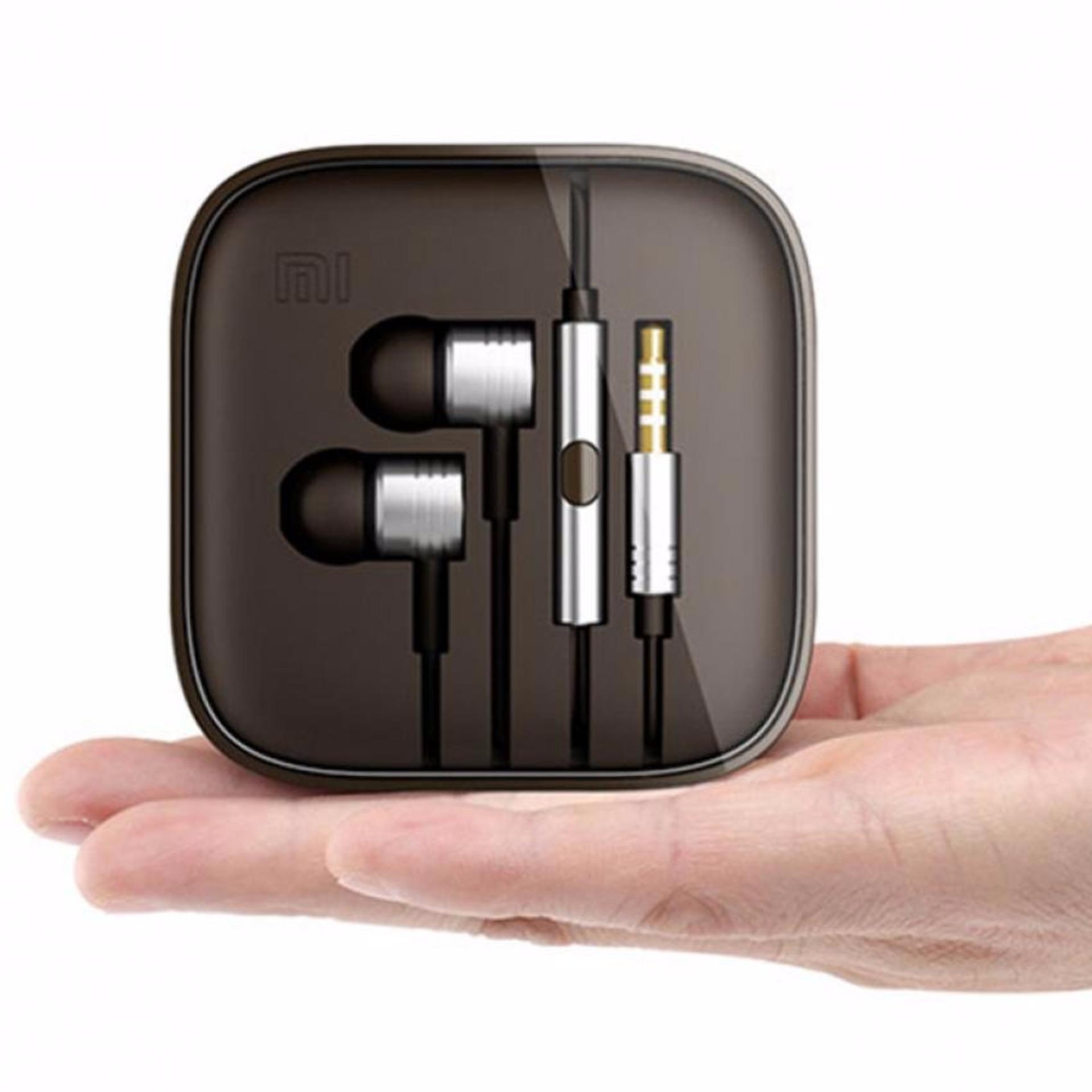 Xiaomi Earphone Big Bass Piston Mi 2nd Generation Handsfree/Headset- Silver