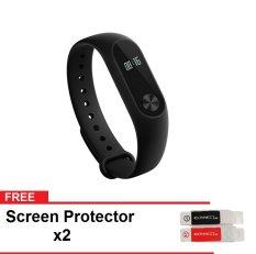 Xiaomi Mi Band 2 International - Hitam+ Gratis 2 Screen Protector