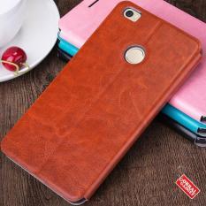 Xiaomi Mi Max Mofi Soft Leather Flip Case Flipcase Cover Hitam Prime