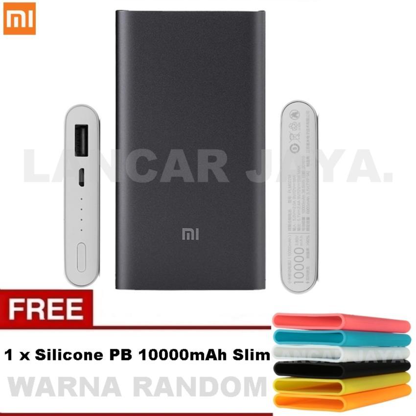 Xiaomi Mi Power Bank 10.000mAh 2 Fast Charging - Generasi 2 + Silikon Pelindung Powerbank Xiaomi