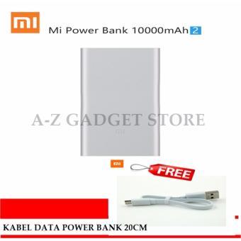 Update Harga Xiaomi Mi Power Bank 2 – 10000mAh Original Powerbank (Silver) FREE kabel data power bank 20cm original putih IDR310,000.00  di Lazada ID