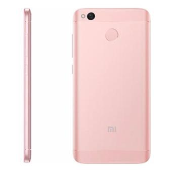 Xiaomi Redmi 4x Prime Ram 3GB Room 32GB Rose Gold - Free - Soft Case Babyskin Black Matte - Tempered Glass - Handsfree