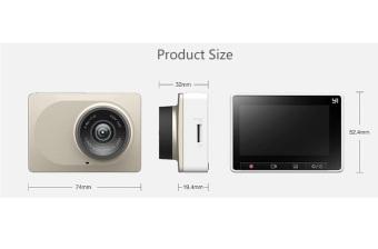 Xiaomi XiaoYi Smart Car DVR Original - Gold - 2