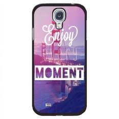 Y&M Enjoy Every Moment Pattern Phone Cover for Samsung Galaxy Mefa 6.3 Black