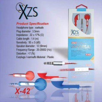 Harga Yarden XZS x-42 universal super BASS Handsfree Sound Only ExcellentSound Quality With Mic - random