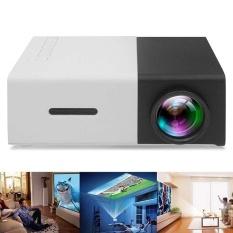 YG300 LED Proyektor Mini Tinggi Resolusi Ultra Portable 1080 P 400-600Lumens-Intl