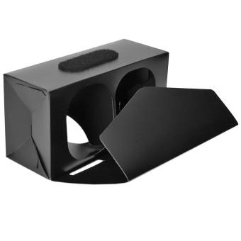 Yika Google Cardboard DIY 3D VR Virtual Reality Glasses for iPhoneSmartphone (Black) (Intl) (Intl)