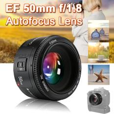 Yongnuo YN 50mm F/1.8 AF/MF Auto-fokus Lensa For Canon EF Gunung Eos Kamera