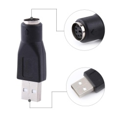 YOSOO 2pcs USB 2.0 A Male To PS/2 Female Converter For PC ComputerKeyboard Mouse