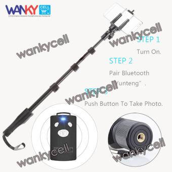 Yunteng Monopod Tongsis YT 1288 Bluetooth With Remote Shutter