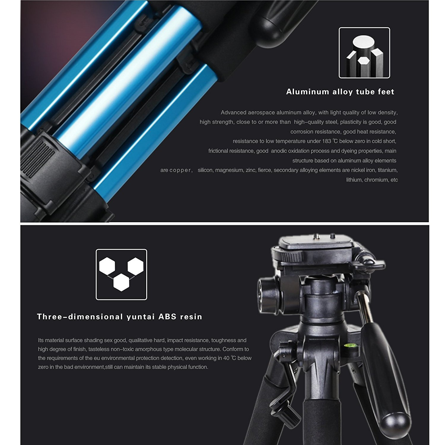 ... ZOMEI Q111 55-Inch Professional Aluminium Camera Tripod CamcorderStand with PanHead Plate for DSLR Canon ...