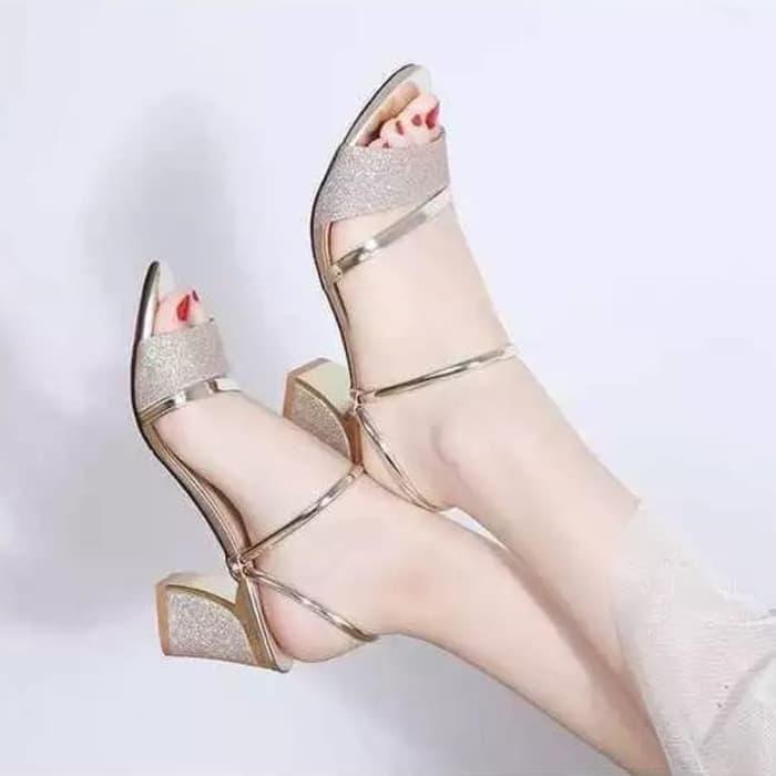 High Heels Wanita Sepatu Kerja Mewah Murah Korea Kekinian Terbaru