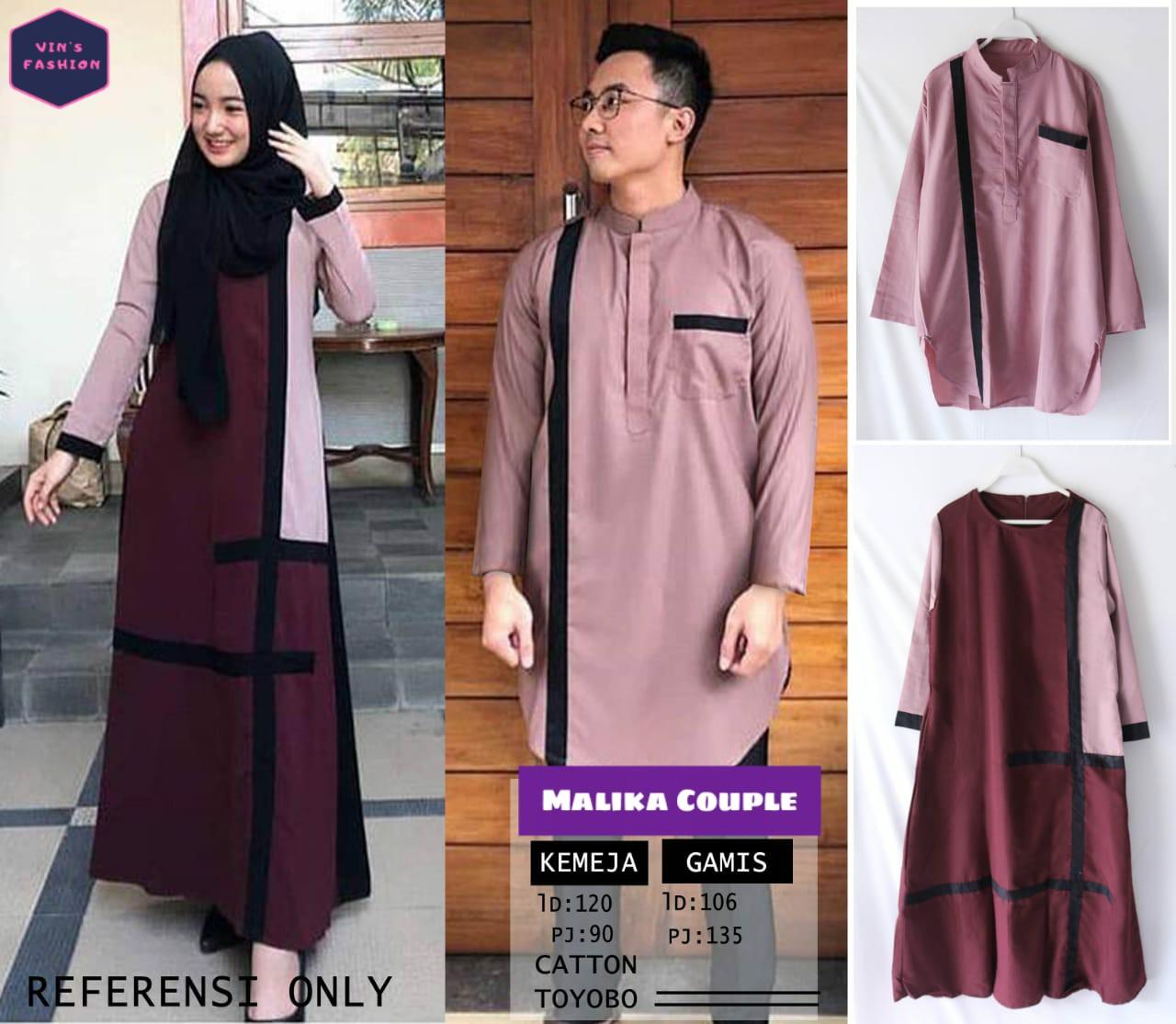 COD Realpict Gamis Malika Couple Cotton Toyobo  Gamis Batik Brokat  Muslimah Syari Terbaru  Model Gamis Batik Polos & Kombinasi Terbaru