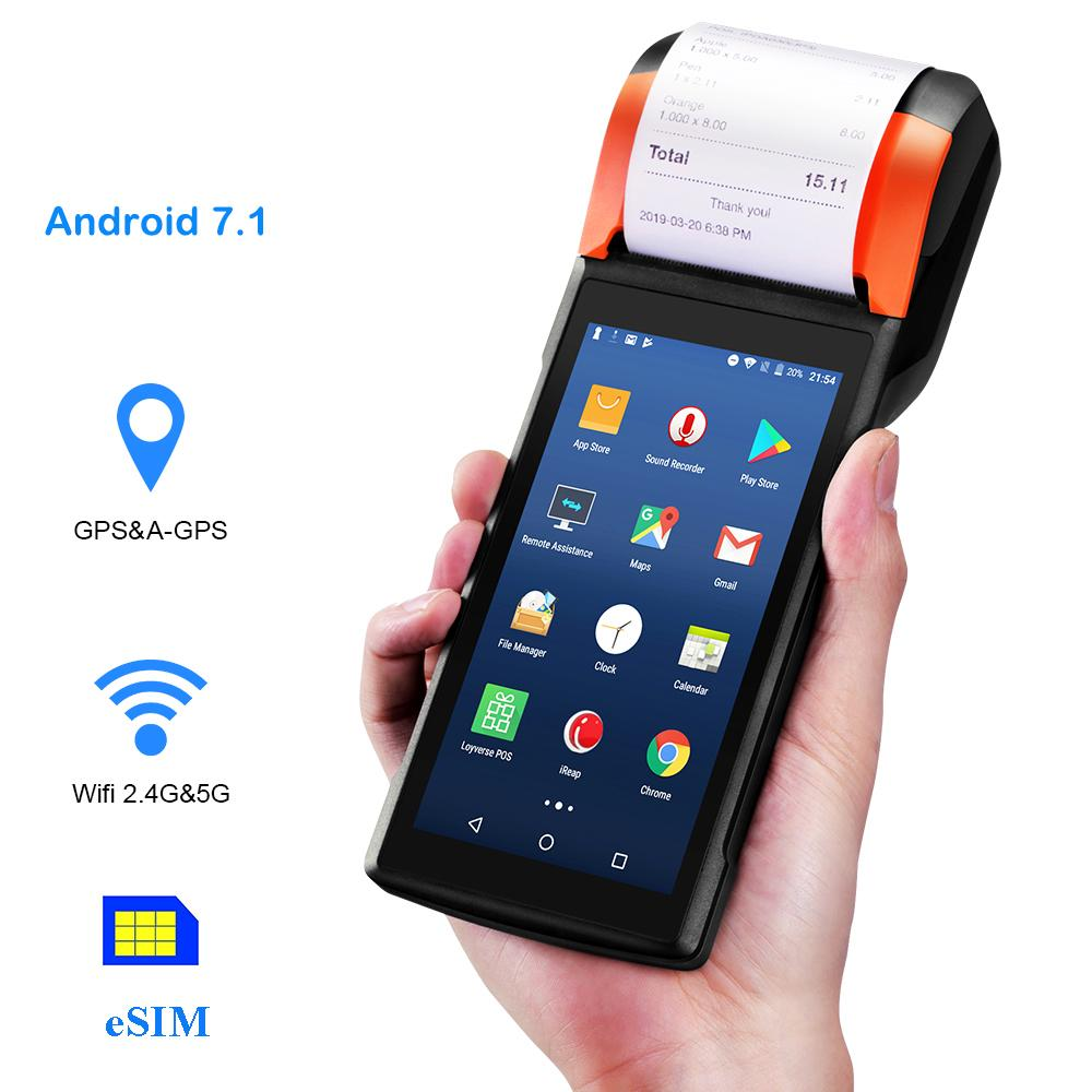 Sunmi V2 Android PDA Speaker Thermal Printer 4G WiFi Camera Scanner 1D/2D  NANO Sim Card Slot Mobile Payment Order Queue Control Restaurant