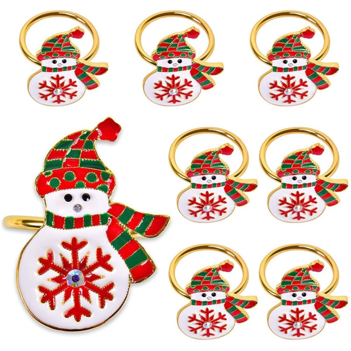 Napkin Rings Christmas Napkin Rings Sef Of 8 Xmas Napkin Ring Dinner Tables Rings For Christmas Thanksgiving Weddings Lazada