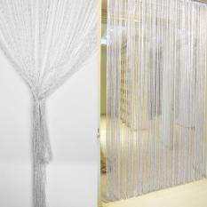 Tirai gorden tipis jendela pintu syal kelambu hijau 1 m x 2 mIDR69000.