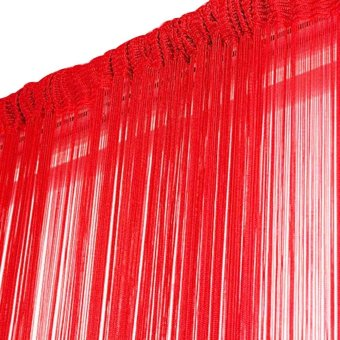1 m x 2 m Warna Murni Rumbai Tali Gorden Pintu Jendela Tirai Pembatas Ruangan Ruang Depan
