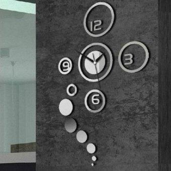 harga 1 x Dekorasi Rumah Modern Living Room Jam Dinding Kristal Cinta Cermin Dibetulkan 3D Lazada.co.id