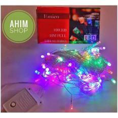 100 Lampu Hias LED Warna Warni 10 Meter Dekorasi Festival Waterproof + Free Colokan Listrik Sambungan Kabel