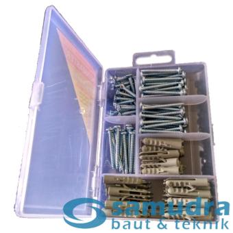 100 Pcs Sekrup Lion Fisher Set + Mini Box KENMASTER Fischer ScrewDIY
