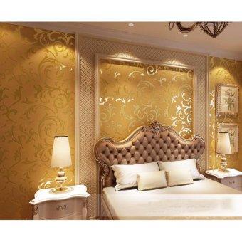 1000*53cm 3D Wallpaper European Style Acanthus Mollis Mirror WallPaper Sticker for Living Room - intl - 2