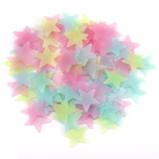 100pcs Stiker Dinding Kreatif - Wall Decals Glow In The Dark - Stars Luminous Fluorescent Wall Stickers